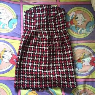 Mini tube dress tartan