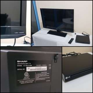 "*Repriced* Sharp 32"" LED TV with LG DVD player, brand new!!"