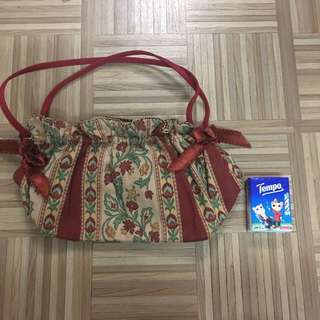 Vintage Rose Handbag (red)