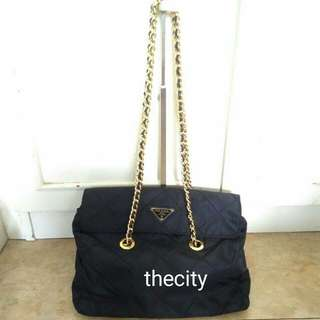 AUTHENTIC PRADA MEDIUM CHAIN TOTE BAG
