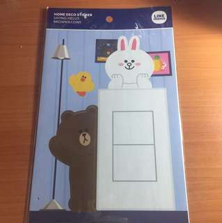 Line friends home deco sticker