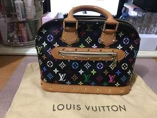 LV multicolour Alma bag 黑彩手袋