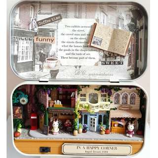 DIY小屋成品-盒子小兔英倫商店街