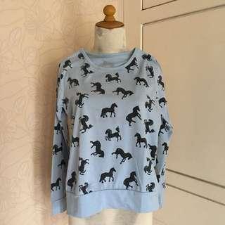 Blue Horse Sweatshirt