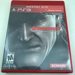 PS3 Game - MetalGearSolid 4 Guns of the Patriots
