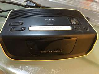 Philips AJ3121 digital alarm clock radio