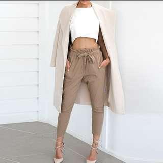 Chiffon high waist pants