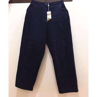 🚚 Pazzo 打褶寬褲 深藍