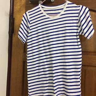 🚚 藍色條紋上衣