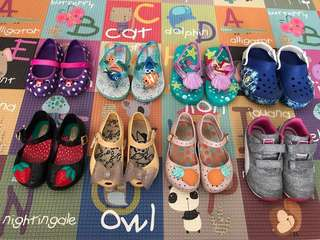 Girls Shoes (Crocs/ Mini Melissa/ Puma)