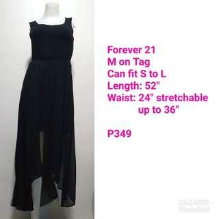 Forever 21 Overlay High-Low Black Dress
