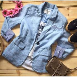 Pastel blue blazer