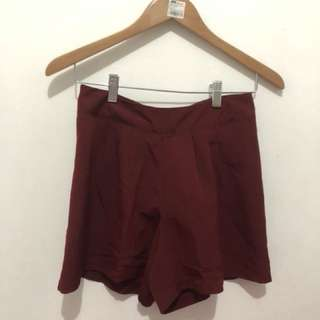 Red Maroon Hotpants