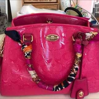Coach Handbag Pink F35191