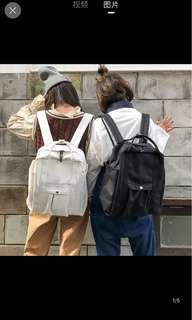 [P.O] Canvas Backpack Bag