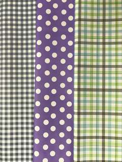 NEW Wrapping papers checkered & dots & lines