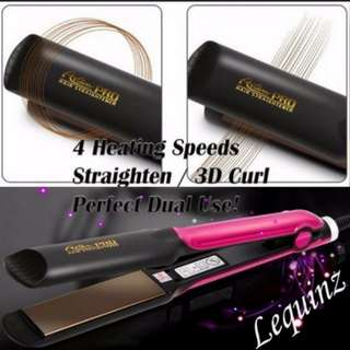 Ceramic Hair Straightener V2 Straightening 3D curl