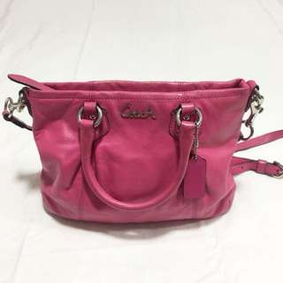 Authentic Pink Coach Bag