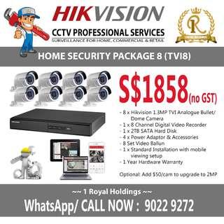 Hikvision 8 TVI Camera Package (CCTV)