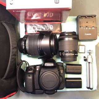 Canon EOS 70D + 18-200mm IS + 18-55mm IS STM in PRISTINE Condition!!!