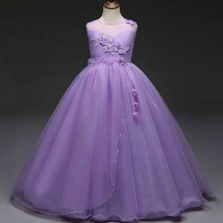 Purple Slevesless Princess Gown