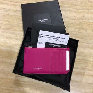 YSL card holder with coins slot