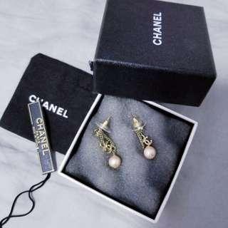100% real Chanel 粉紅珍珠耳環