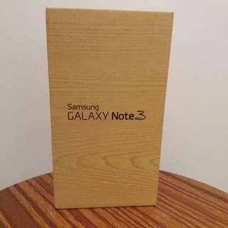 Samsung Note 3 包裝盒連說明書