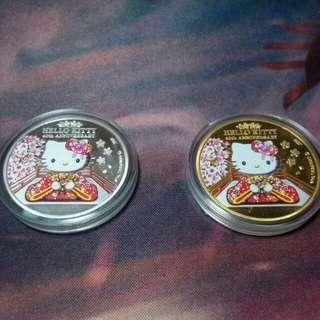 Hello Kitty 錢幣(一組兩顆!!)