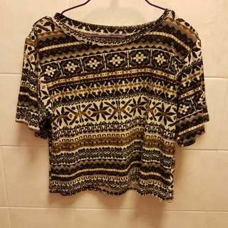 Tribal Design Crop Top