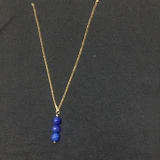 Royal Blue Non Tarnish Necklace
