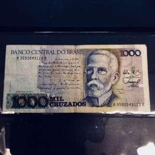 Vintage Brasílian note