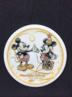 110th Anniversary Walt Disney Coaster Mickey and Minnie Mouse Rare