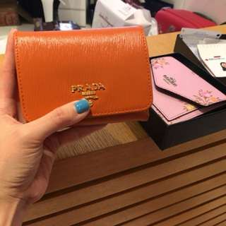 Prada trifold wallet with receipt NEW