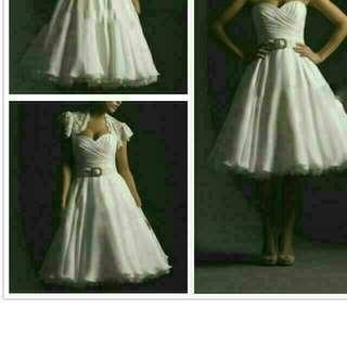 ROM Dress white knee length