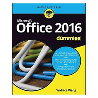 Office 2016 For Dummies (For Dummies (Computer/Tech)) BY Wallace Wang