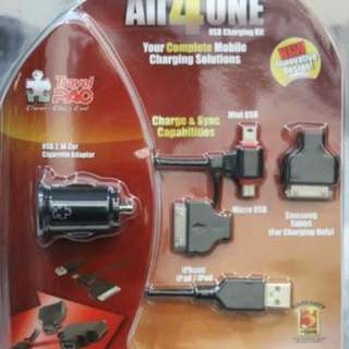 All 4 One USB Charging kit Travel Pac