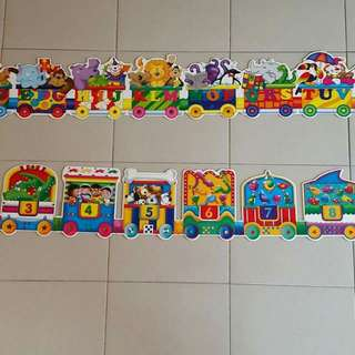 Giant ABC & 123 Train Puzzle (Preloved)