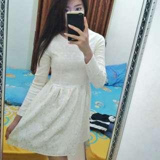 White Premium Dress