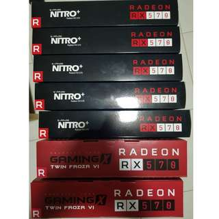 Sapphire Nitro+ RX 570 4GB & MSI GAMIMG RX570 4GB