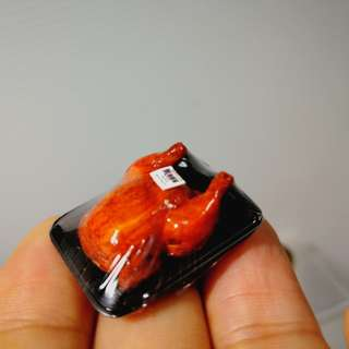 Dollhouse Miniature : A pack of roasted chicken