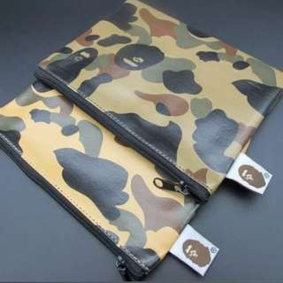 Brand new in packaging bape bathing ape pouch