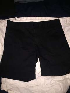 Kenji black chino shorts