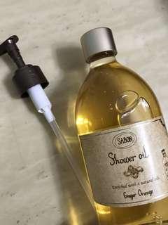[全新低放] 不包郵 Sabon shower oil ginger orange 500ml