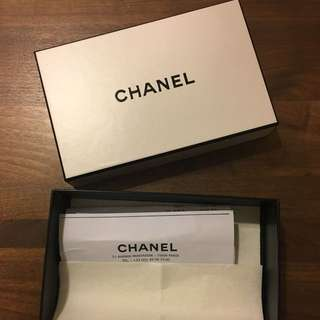 Chanel box with receipt