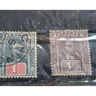 Sarawak 1922  Sir Charles Vyner Brooke Head Fine Used & Sarawak 1922  Sir Charles Vyner Brooke Head Fine Used