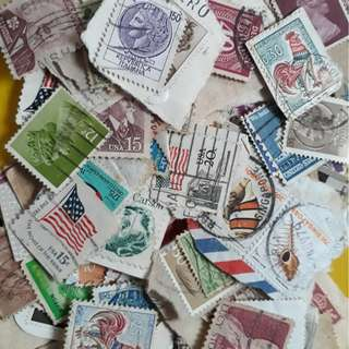 World Mixed Definitive Issue - GREAT BRITAIN / USA / ITALY / FRANCE - 50 Stamps Lot