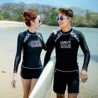 Couple rash guard