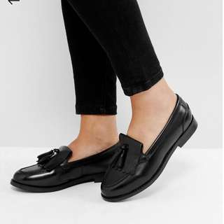 ASOS MAXWELL Wide Fit Leather Loafers