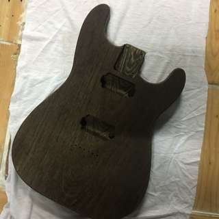 S style guitar body in a chunk of Wenge (unfinished)
